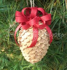large winecone wine cork pine cone christmas ornament in