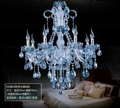 Interior Design For Blue Crystal Chandeliers On Modern Water Pendant