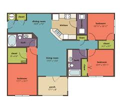 Floor Plan Of 3 Bedroom Flat Three Bedroom Floor Plans Apartment Homes For Rent Ladson North