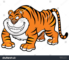 vector illustration cartoon tiger stock vector 276040799