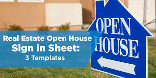 real estate open house sign in sheet templates 3 options