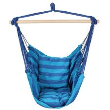 Baby Blue Cushions Amazon Com Swing Hanging Hammock Chair With Two Cushions Blue