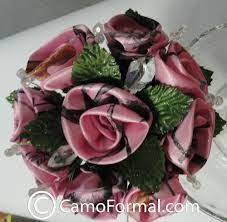 camo flowers pink brown wedding flowers bridal bouquet wedding flowers