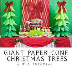 Christmas Decorations Cone Trees by Giant Ombre Paper Cone Christmas Trees A Diy Tutorial And How To