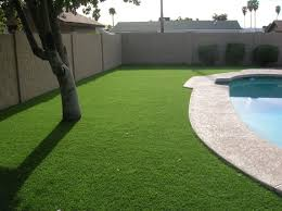artificial grass accent landscaping