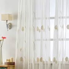 Free Kitchen Embroidery Designs Free Shipping Leave Window Textile Panel White Embroidered Tulle