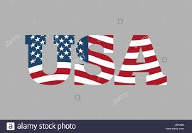 American Flag In Text Colorful Illustration American Flag Letter Stockfotos U0026 Colorful