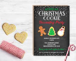 cookie decorating party cookie party invitation annual
