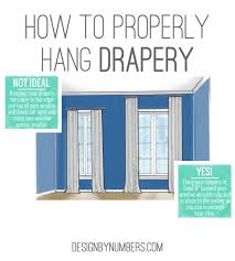 how to hang drapery or curtains design by numbers living
