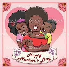happy mothers day card black family stock vector art 667899298