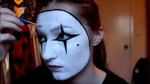 easy french mime costume makeup facepaint tutorial youtube