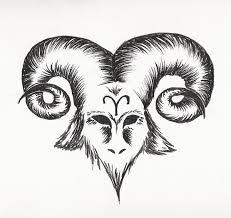 aries head tattoo design