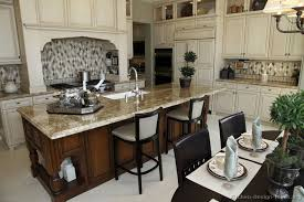 kitchen designs with islands kitchen cabinets traditional two tone 105 s30656710 antique white wood island luxury jpg