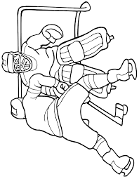 free hockey coloring pages coloring