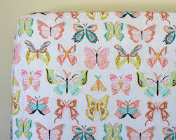 baby crib bedding butterfly fitted crib sheet changing pad