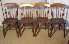 4 victorian beech u0026 elm stick back kitchen chairs antiques atlas