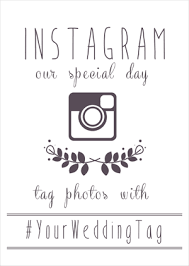 wedding wishes hashtags free instagram wedding printables insert your hashtag and they