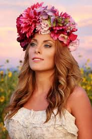 flower headdress flower crown flower headdress floral headdress day of the