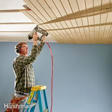 How To Install Beadboard On Ceiling - how to install a tongue and groove ceiling family handyman