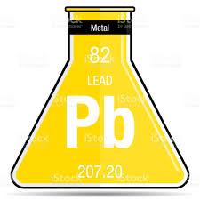 element 82 periodic table lead symbol on chemical flask element number 82 of the periodic