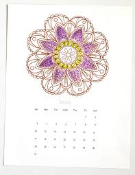 mandala coloring pages 2016 calendar piece rainbow