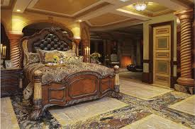 Bedroom Set With Leather Headboard Furniture Fill Your Home With Beautiful Aico Furniture Collection