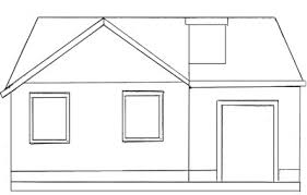 how to draw a house draw step by step