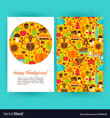 happy thanksgiving flyer template royalty free vector image