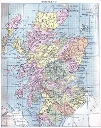Map Scotland Scotland Map 1907 Philatelic Database