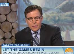 Bob Costas Meme - bob costas has pink eye and is wearing glasses in sochi larry