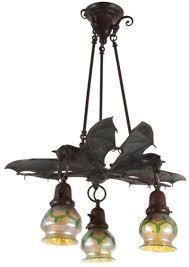 Bat Light Fixture Light Austrian Bronze Hanging Bat L