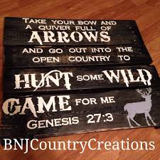 in stock hand painted hunting wood pallet sign bible verse