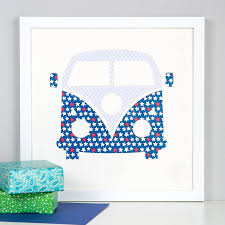 campervan cut out picture by outshine art notonthehighstreet com campervan cut out mount picture