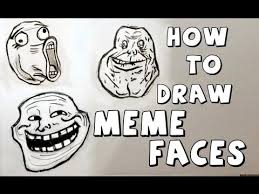 an easy step by step way to draw meme faces how to draw meme