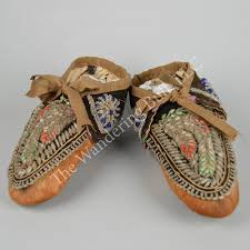 moccasins iroquois beaded the wandering bull