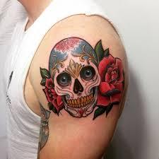 Amazing Skull - 30 amazing and inspiring sugar skull tattoos designwrld
