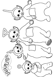 coloring pages teletubbies printable kids u0026 adults free