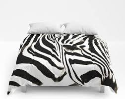 Queen Zebra Comforter Zebra Bedding Etsy