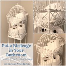 Toilet Paper Roll Storage Put A Birdcage In Your Bathroom Creative Toilet Paper Storage