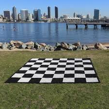 Outdoor Checker Table Made From Chess Checkers Tosso