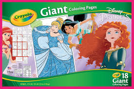 crayola giant colouring pages disney princess english books