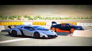 cartoon lamborghini veneno forza 5 drag race lamborghini veneno vs bugatti veyron ss youtube