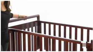 Convertible Crib To Toddler Bed by Cherry Convertible Baby Crib Toddler Bed Youtube
