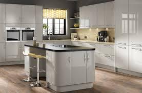 Gloss Kitchen Designs Parma High Gloss Light Grey Kitchen Designer Range