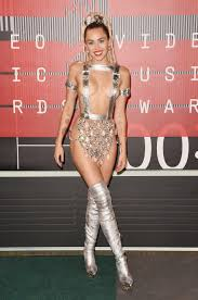 sexy nude miley cyrus mtv video music awards 2015 miley cyrus shows off boobs ass with