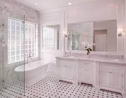carrara marble bathroom designs marble basketweave tile floor transitional bathroom cote de