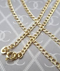 curb necklace images Fine 9ct yellow gold curb chain necklace for men ladies jpg