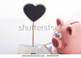 heart shaped piggy bank bank pig pink heart stock images royalty free images vectors