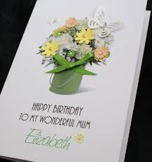 Mother S Day Greeting Card Handmade Large Handmade Personalised Mother U0027s Day Birthday Card Bouquet Of