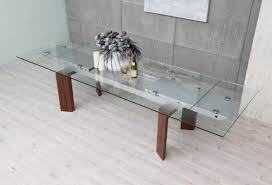 modern glass dining table with extension modrest bijou